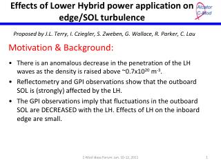 Effects of Lower Hybrid power application on edge/SOL turbulence