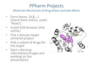 PPharm  Projects Molecular Mechanism of Drug Action and Side Effects