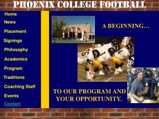 Phoenix College football