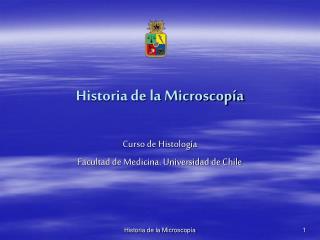 Historia de la Microscop a