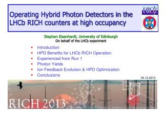 Operating Hybrid Photon Detectors in the LHCb RICH counters at high occupancy
