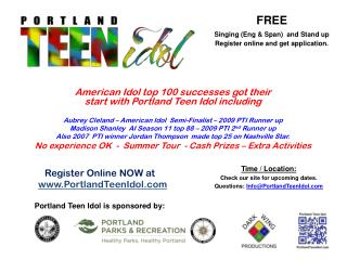 Register Online  NOW at