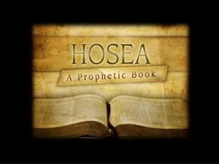 Hosea  4