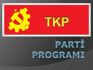 Part İ  Program I