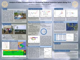 Analysis of  Ozone Concentrations  in a  Dissipating Tropical Convective System during  TC-4