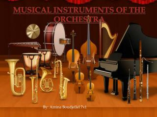 Musical Instruments of the orchestra