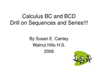 Calculus BC and BCD Drill on Sequences and Series