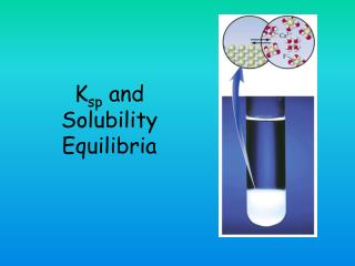 K sp  and Solubility Equilibria