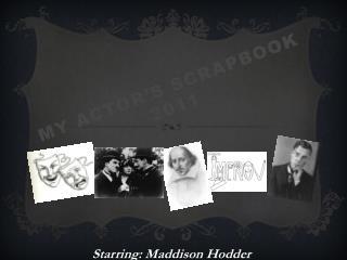 My Actor's Scrapbook 2011