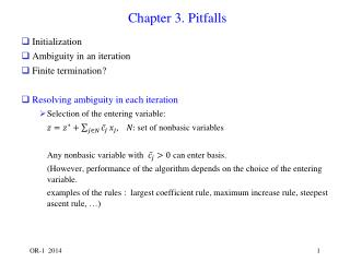 Chapter 3. Pitfalls