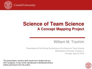Science of Team Science A Concept Mapping Project