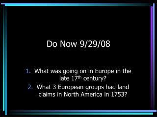 Do Now 9/29/08