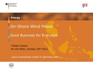 On-Shore Wind Power Good Business for Everyone