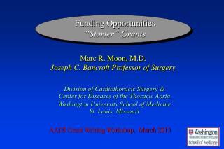 """Funding Opportunities """"Starter"""" Grants"""