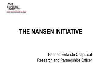 THE NANSEN INITIATIVE