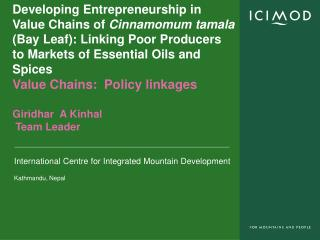 Policy Environment: Value chain