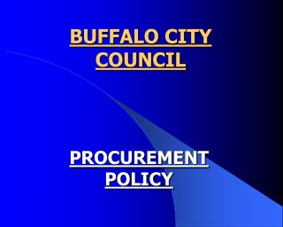 BUFFALO CITY COUNCIL