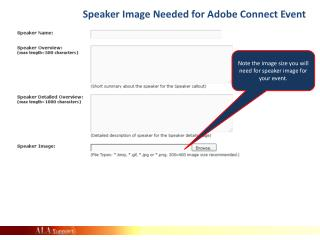 Speaker Image Needed  for Adobe Connect  Event