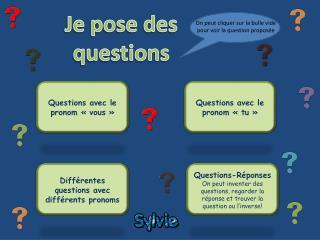 Questions avec le pronom «vous»
