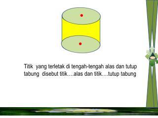 Garis  yang  merupakan jarak  alas  tabung dan tutup tabung disebut …. tabung