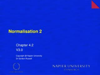 Normalisation 2