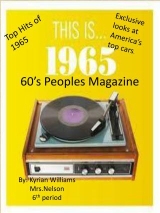 60�s Peoples Magazine