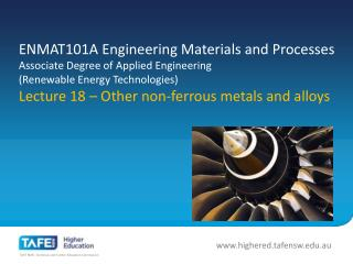 Other non-ferrous metals and alloys