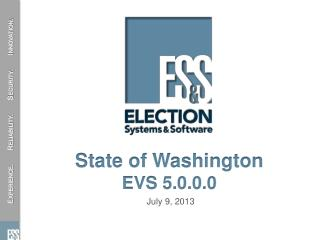 State of Washington  EVS 5.0.0.0