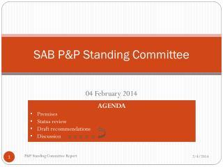 SAB P&P Standing Committee