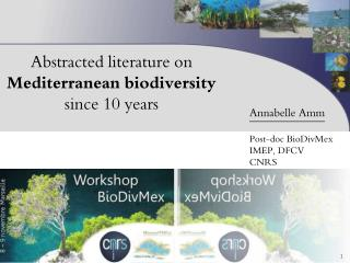 Abstracted literature on  Mediterranean biodiversity  since  10  years