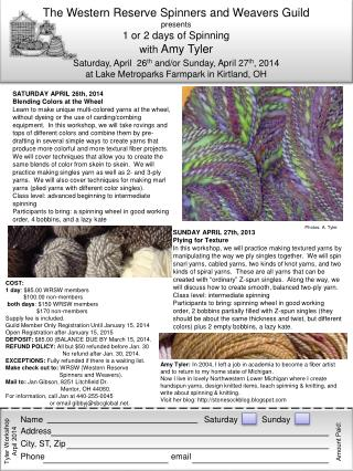 SUNDAY  APRIL 27th , 2013 Plying for Texture