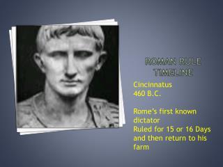 Roman Rule timeline