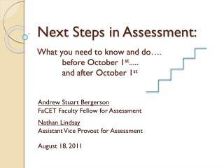 Andrew Stuart Bergerson FaCET  Faculty Fellow for Assessment Nathan Lindsay