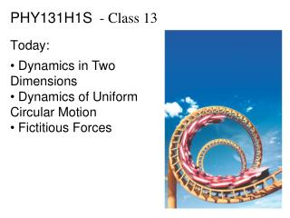 PHY131H1S   - Class  13