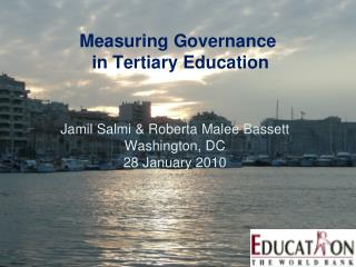 Measuring Governance  in Tertiary Education