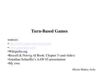 Turn-Based Games