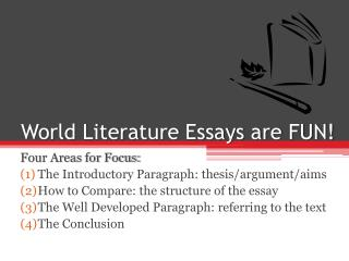 World Literature Essays are FUN!