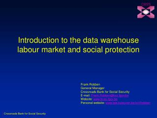 Introduction to the data warehouse labour market and social protection