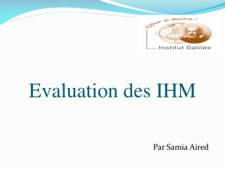 Evaluation des IHM