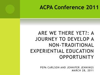 ACPA Conference 2011