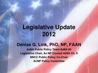 Legislative Update  2012