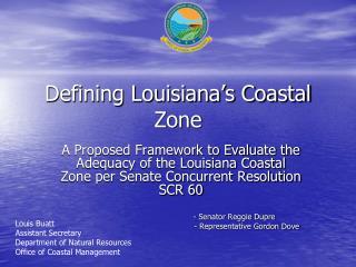 Defining Louisiana's Coastal Zone