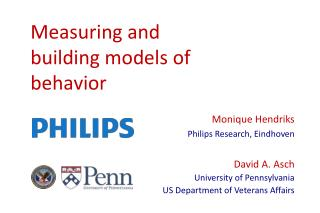 Measuring and building models of behavior