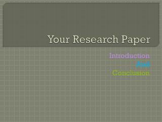 Your Research Paper