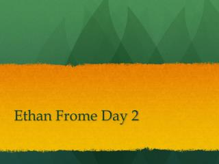 Ethan  Frome  Day 2