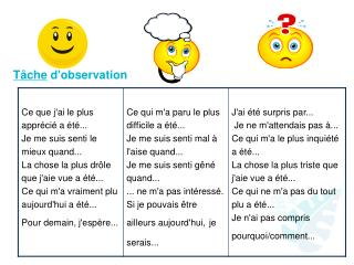 T�che  d'observation