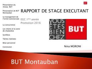 RAPPORT DE STAGE EXECUTANT EGC 1 ère  année Promotion 2016