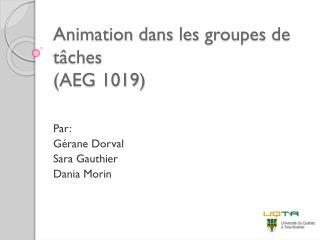 Animation  dans  les  groupes  de  tâches (AEG 1019)