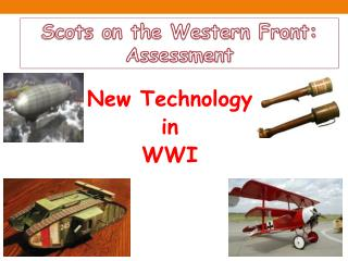 New Technology  in  WWI