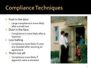 Compliance Techniques